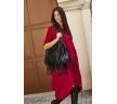 Бордовое платье свободного кроя Numinou NU137