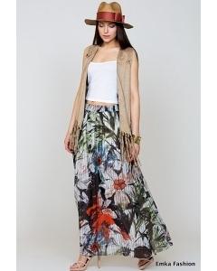 Летняя макси-юбка Emka Fashion 534-pola