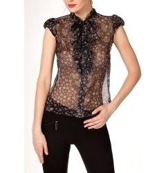 Блузка из чёрного шёлка
