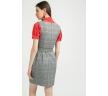 Короткое платье-сарафан в клетку Emka PL886/union