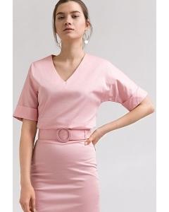 Блузка розового цвета из хлопка Emka B2458/mosholu