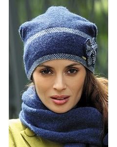 Тёмно-синяя шапка Kamea Ria