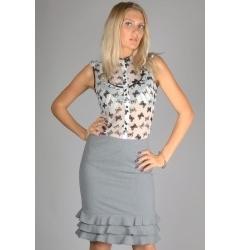 Светло-серая юбка Emka Fashion