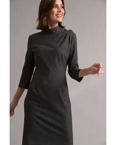 Серое платье с пуговицами на плече Emka PL1056/suvid