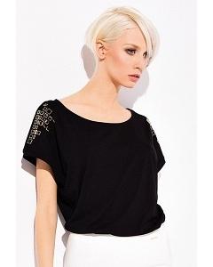 Чёрная блузка свободного кроя Zaps Lara