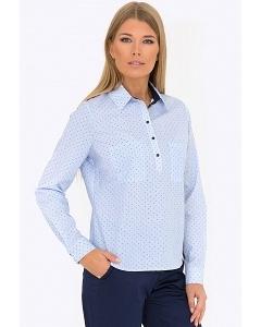 Блузка с воротником поло Emka Fashion b 2183/liana