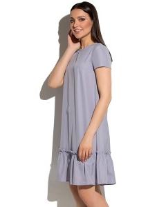 Сиреневое летнее платье с воланом Donna Saggia DSP-276-86