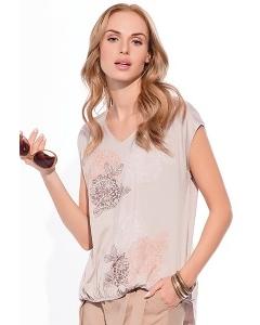 Бежевая летняя блузка Sunwear W39