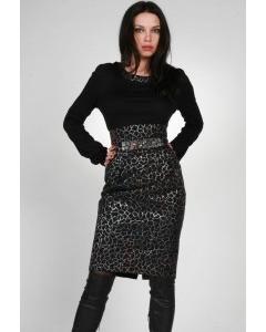 Красивое комбинированное платье | 0133
