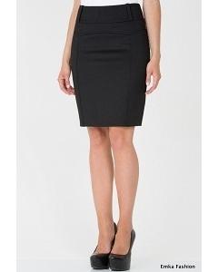 Черная офисная юбка Emka Fashion 440-rumina
