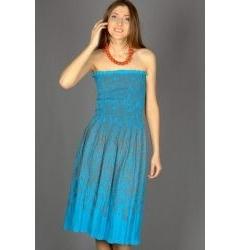 Бирюзовый сарафан Emka Fashion