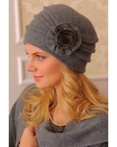 Комплект (шапка + шарф) тёмно-серого цвета Landre Аэлита