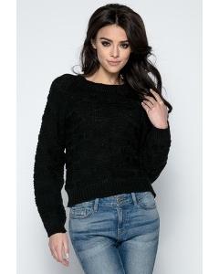 Женский свитер чёрного цвета Fobya F502