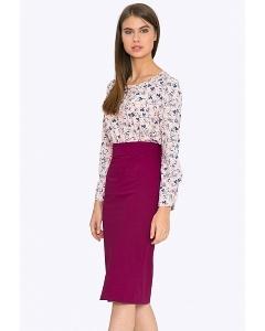 Облегающая юбка цвета фуксия Emka S616/bonjour