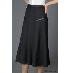 Длинная юбка темно-серого цвета