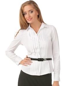 Белая блуза рубашечного кроя