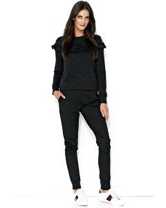 Чёрный костюм блузка и брюки Numinou NU140