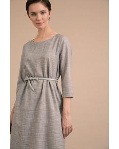 Платье в клетку с добавлением люрекса Emka PL988/aldegela