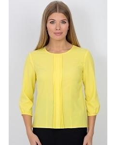 Блузка жёлтого цвета Emka Fashion b 2101/mekona