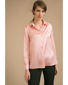 Коралловая блузка с принтом Emka B2412/kakadu