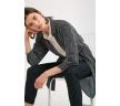 Платье-рубашка черного цвета в полоску Emka PL884/blazhena