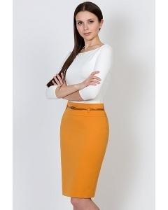Юбка горчичного цвета Emka Fashion 202-60/raisa