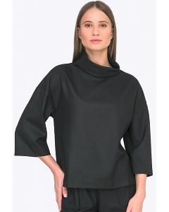 Чёрная женская блузка Emka B2268/spunky
