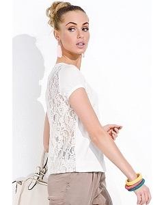 Блузка с кружевной полупрозрачной спиной Zaps Sara