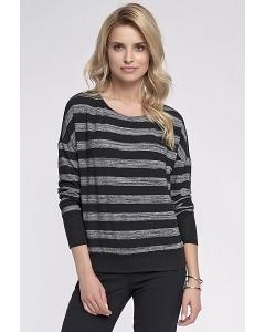 Блузка в черно-серую полоску Sunwear O20-5-12