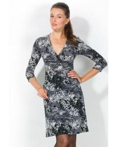 Черно-белое облегающее платье