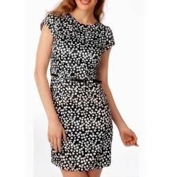 Чёрное платье в мелкий горошек