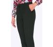Чёрные женские брюки со средней посадкой Emka D068/lenora