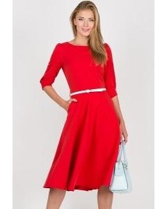 Платье красного цвета Emka Fashion PL-407/joanna