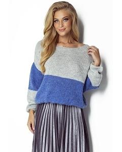 Двухцветный свитер oversize Fimfi I302