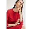 Блузка красного цвета с драпировкой Emka B2385/vivid