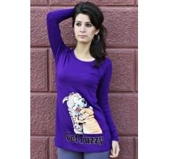 Фиолетовый женский джемпер
