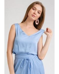 Голубая блузка без рукавов Emka B2347/ivanova