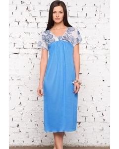 Длинная женская сорочка больших размеров   1331-18
