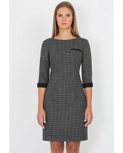 Серо-чёрное платье Emka Fashion PL-438/lida