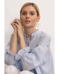 Голубая блузка с завязками Emka B2613/lubomila