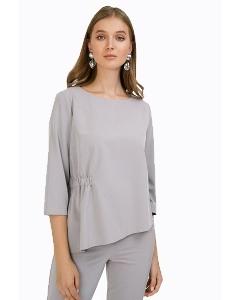 Блузка серого цвета прямого кроя Emka B2387/gabriella
