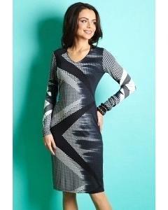 Трикотажное платье TopDesign B5 003