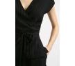Блузка черного цвета в полоску Emka B2401/makkenzi