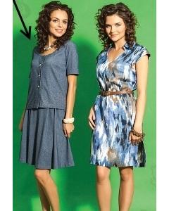 Костюм блузка и юбка TopDesign A5 040