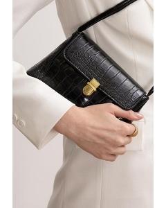 Миниатюрная чёрная сумка Emka C035/leston