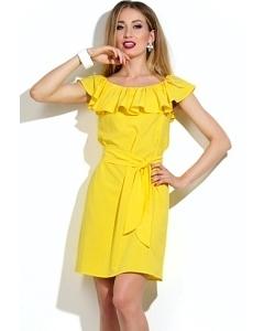 Коктейльное платье желтого цвета   DSP-16-47