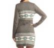 серое платье-туника спина