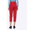 Укороченные брюки яркого красного цвета Emka D127/rosso