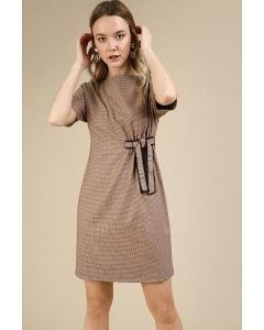 Платье с орнаментом гусиная лапка Emka PL778/tiko