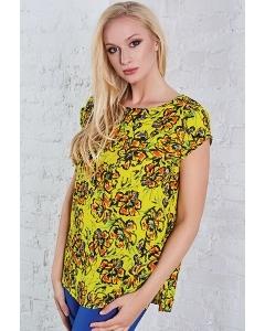 Женская летняя блузка жёлтого цвета TopDesign A8 059
